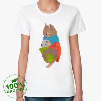 Женская футболка из органик-хлопка Оборотень