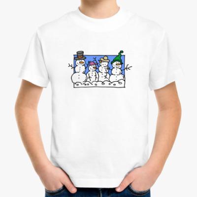 Детская футболка Снеговики