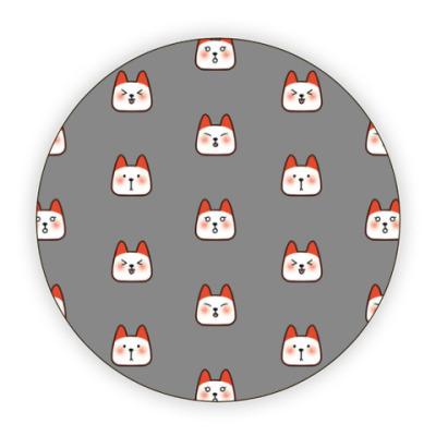Костер (подставка под кружку) котики