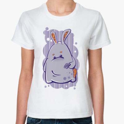 Классическая футболка заяц-побегаец