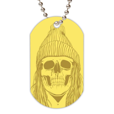 Жетон dog-tag 'skeleton girl '