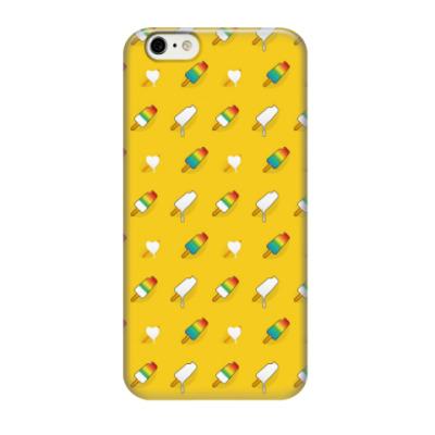 Чехол для iPhone 6/6s Поп арт дизайн. Мороженое паттерн