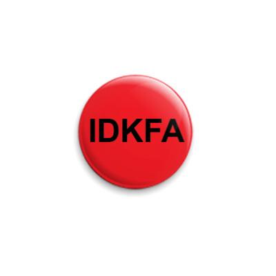 Значок 25мм IDKFA красный