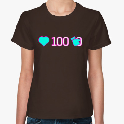 Женская футболка лайков 100