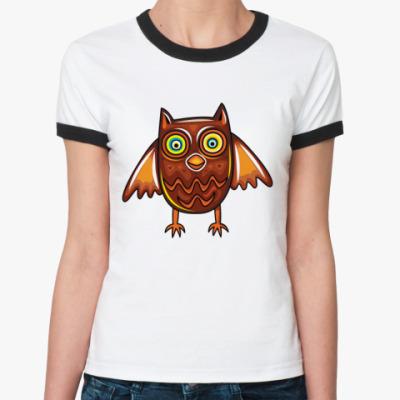 Женская футболка Ringer-T SOWA