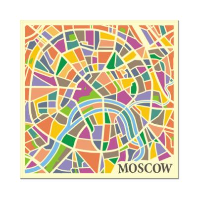 Наклейка (стикер) Карта Москвы