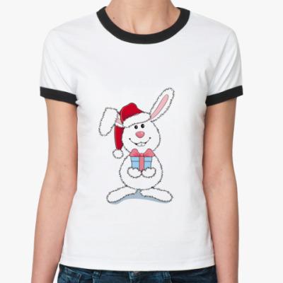 Женская футболка Ringer-T   Кролик