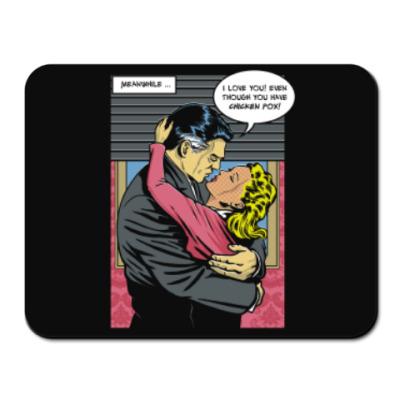 Коврик для мыши Страница из ретро комикса