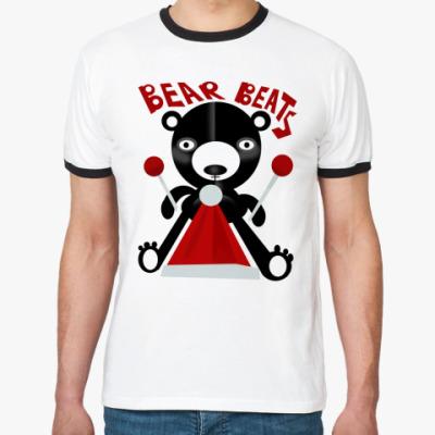 Футболка Ringer-T Bear Beats