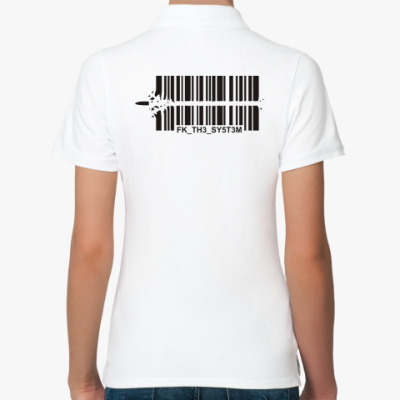 Женская рубашка поло Fuck the System