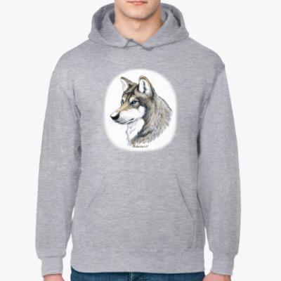 Толстовка худи 'Лесной волк'