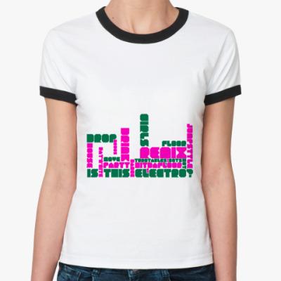 Женская футболка Ringer-T   электро муз