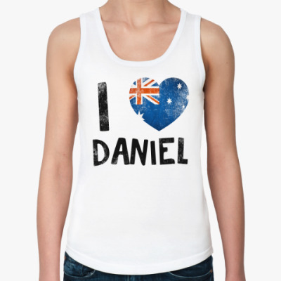 Женская майка  I LOVE DANIEL