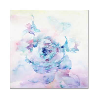Наклейка (стикер) Снежная роза