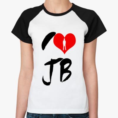 Женская футболка реглан  love bieber