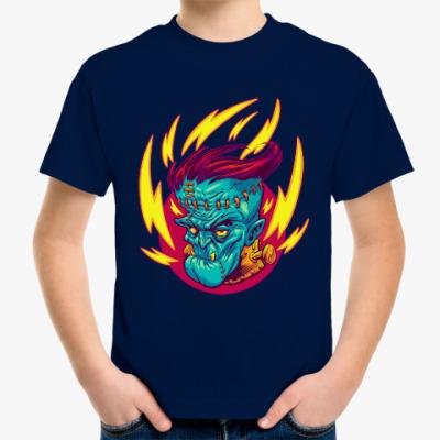 Детская футболка Франкенштейн в огне