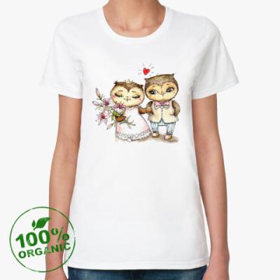 Женская футболка из органик-хлопка Свадебная