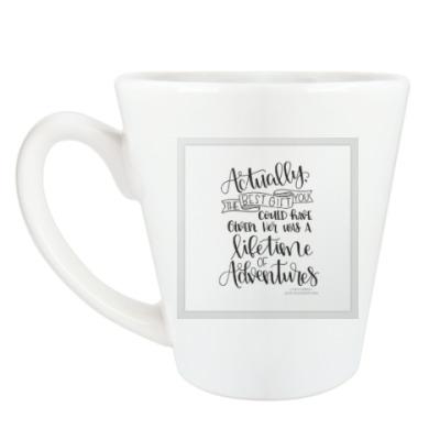 Чашка Латте Алиса в стране чудес/ Alice in wonderland
