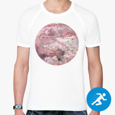 Спортивная футболка Японская сакура весной