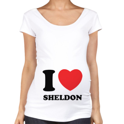 Футболка для беременных I Love Sheldon
