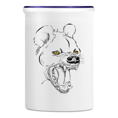 Подставка для ручек и карандашей хохочущая гиена