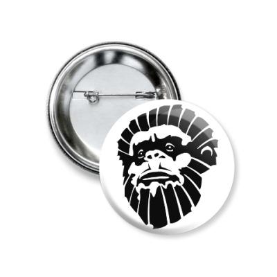 Значок 37мм Лицо обезьяны