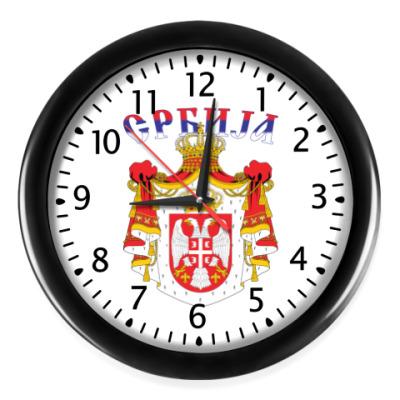 Настенные часы Большой герб Сербии