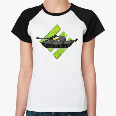 Женская футболка реглан Танк Е 100 Германия