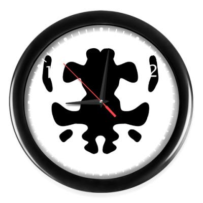 Часы Принт с пятном Роршаха