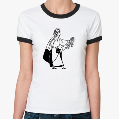 Женская футболка Ringer-T  Теххи