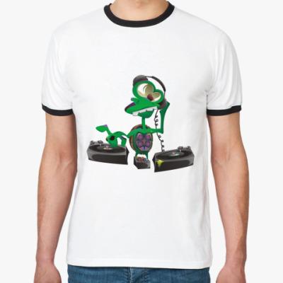 Футболка Ringer-T DJ Turtle