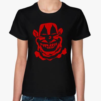 Женская футболка Злой клоун