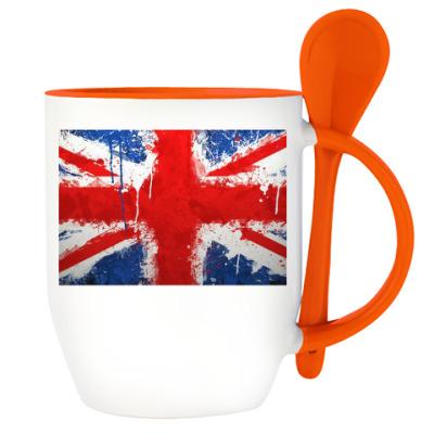 Кружка с ложкой Британия