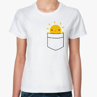 Классическая футболка Солнышко в кармане