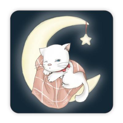 Костер (подставка под кружку) Лунная кошечка