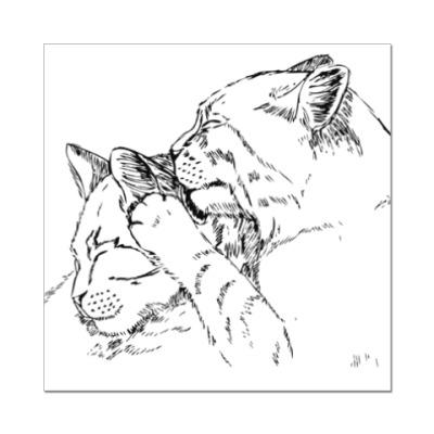 Наклейка (стикер) Кошачьи нежности
