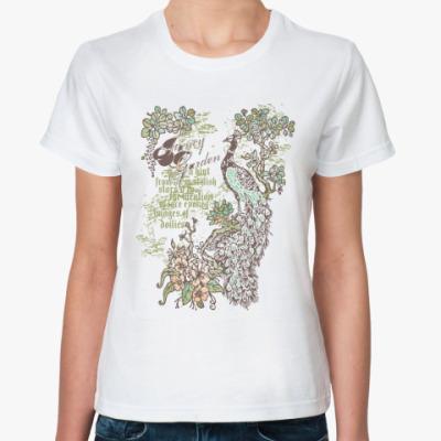 Классическая футболка Павлин