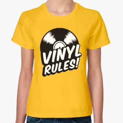 Женская футболка Винил рулит!