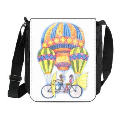 Сумка на плечо (мини-планшет) Воздушный велосипед