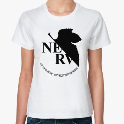 Классическая футболка Neon Genesis Evangelion NERV