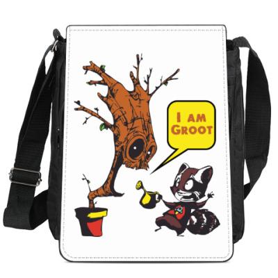 Сумка-планшет Groot and Rocket Raccoon