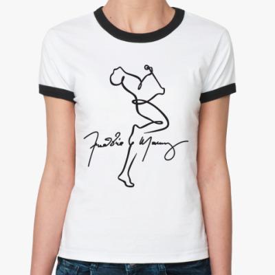 Женская футболка Ringer-T Freddie Mercury