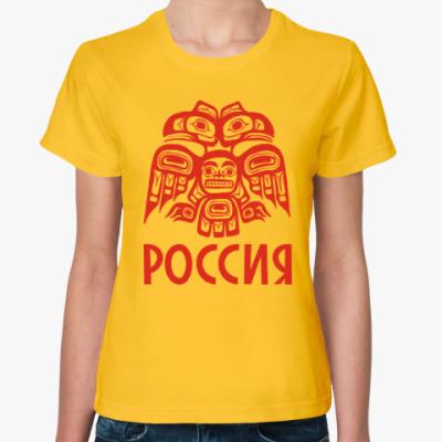 Женская футболка Россия. Орел.