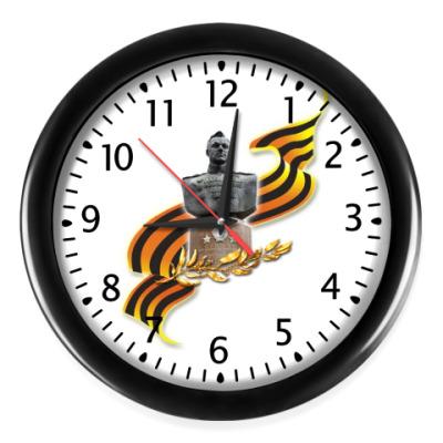 Настенные часы Часы (черные цифры и стрелки)