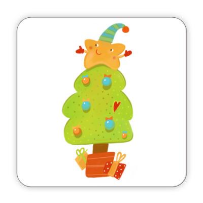 Костер (подставка под кружку) Новогодняя елочка