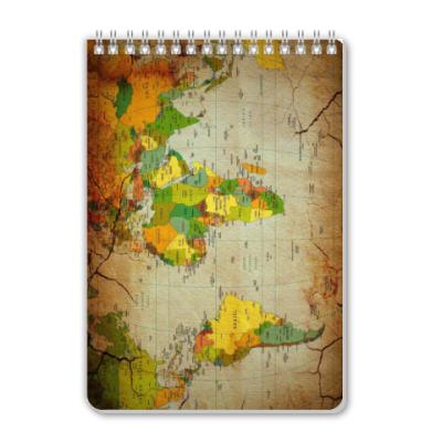 Блокнот Old map