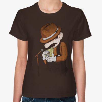 Женская футболка 8-бит блюз