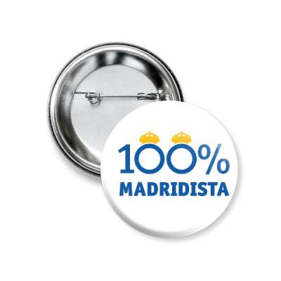 Значок 37мм Значок 37 мм - 100% Madridista