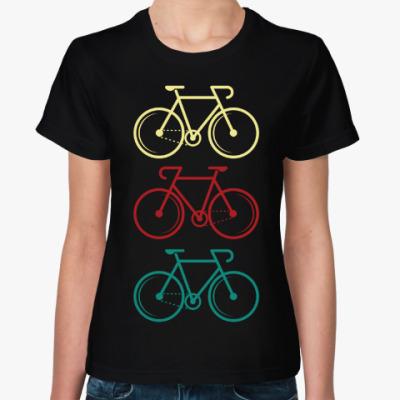 Женская футболка Велосипеды