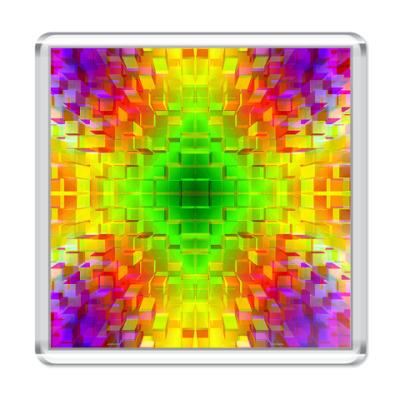 Магнит  Радужные кубики